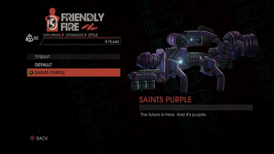 Weapon - Explosives - Alien RPG - Tyrant - Saints Purple