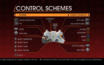 Saints Row Gat out of Hell - Main Menu - Options - Controls - Gamepad - Control Schemes - Flight Controls