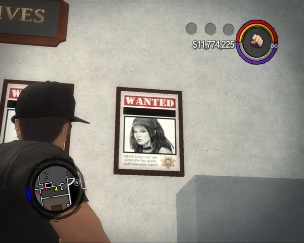File:Shaundi - wanted poster in Police Headquarters in Saints Row 2.jpg