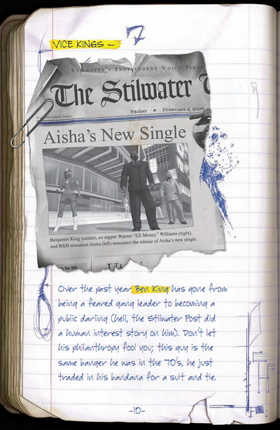 Saints Row manual page 10 - Vice Kings