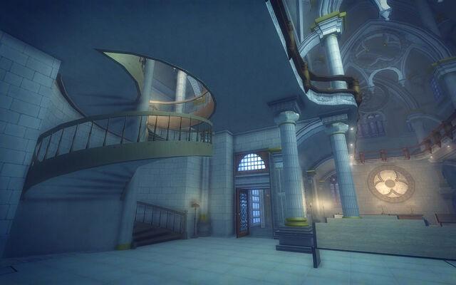 File:Saints Row Church - spiral staircase.jpg