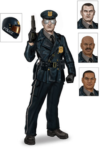File:Steelport Police concept art - final outfit with 3 alternate faces.jpg