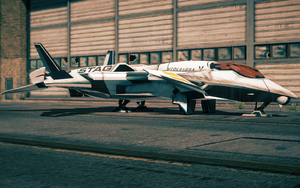 F-69 VTOL - front left parked in Saints Row IV
