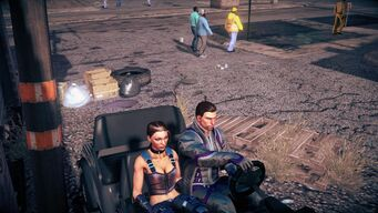 Knoxville causing passenger arm to pass through driver in Saints Row IV