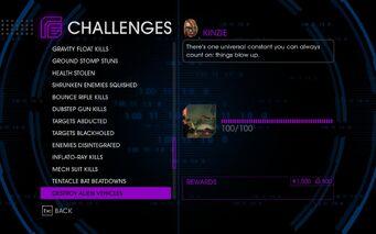 Challenge 53 Destroy Alien Vehicles