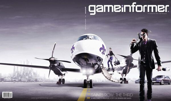 Game Informer cover with plane
