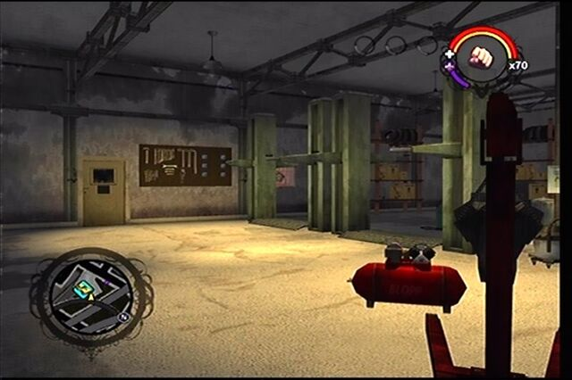 File:Donnie's second garage as it appears in Saints Row - interior work area.jpg