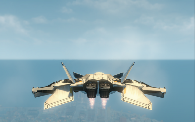 File:F-69 VTOL - hover mode - rear in Saints Row The Third.png