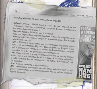 Saints Row Manual page 13 - June newspaper clipping
