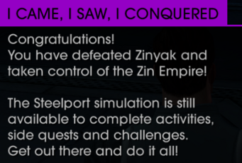 Saints Row IV - I came, I saw, I conquered message
