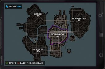 Map of Steelport in Saints Row The Third