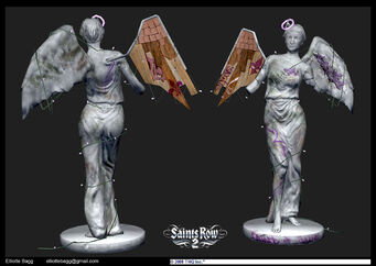 Saint of all Saints concept art - Saints Row 2 front and back