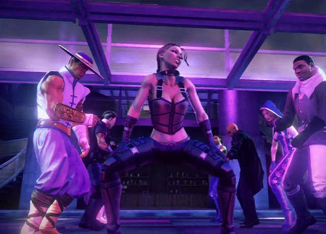File:Shaundi - start of dance in closing cutscene of Grand Finale Part Four.png