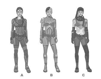 Asha Odekar Concept Art - three versions