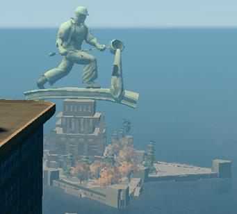 Joe Steel statue from Saints HQ roof