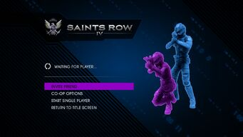 Saints Row IV Coop Menu