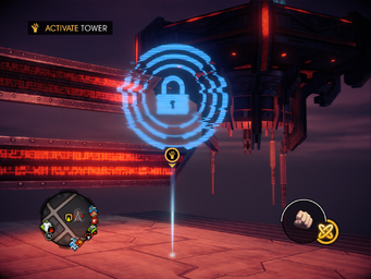 Saints Row IV Tower Diversion - Activate Tower marker
