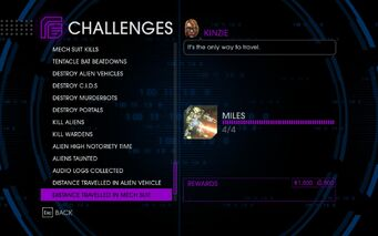 Challenge 63 Distance Travelled In Mech Suit