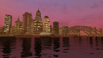 Saints Row loading screen - downtown