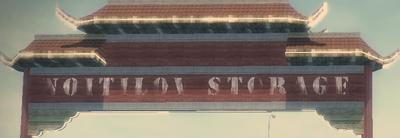 Noitilov Storage sign in Little Shanghai