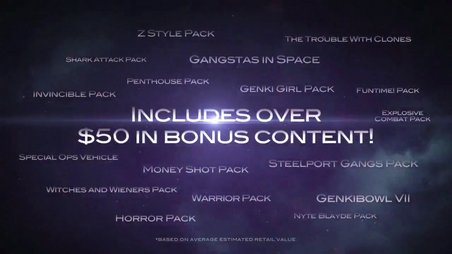 Saints Row The Third The Full Package - DLC list in trailer