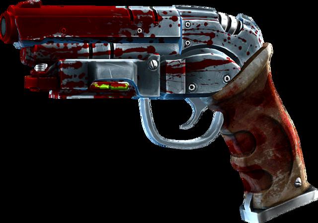 File:SRIV Pistols - Heavy Pistol - DEK-RD Railpistol - Bloody Mess.png