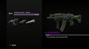 K-8 Krukov in the Weapon Cache
