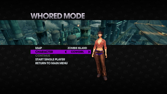Whored Mode single player - Zombie Island - Cowgirl