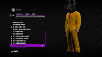 Valve Clothing Pack tf2 mask 5 pyro