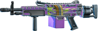SRIV Rifles - Automatic Rifle - Mercenary LMG - Purple Inferno