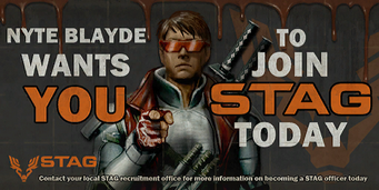 Nyte Blayde - Wants You STAG recruitment billboard