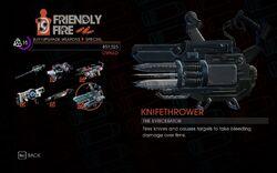 Knifethrower in Friendly Fire in Saints Row IV