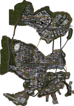 Saints Row parking map