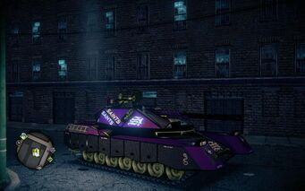 Saints Crusader - front right at night in Saints Row IV