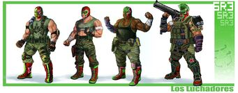 The Luchadores Concept Art Scan