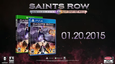 Saints Row Gat out of Hell New Release Date US