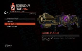 Weapon - Rifles - Disintegrator - Disintegrator - Gold-Plated