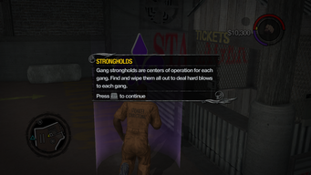 Strongholds tutorial in Saints Row 2