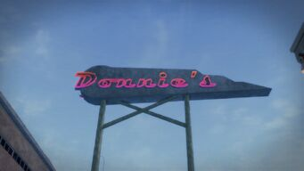 Donnie's sign in Saints Row 2 from the other side