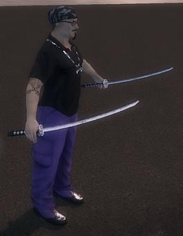 Dual Samurai Swords - NPC attacking outside of Kanto Connection
