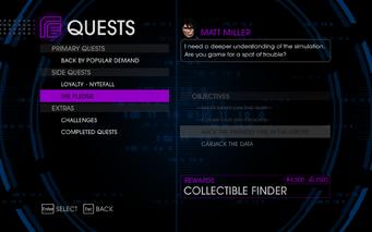 Quests Menu - The Pledge