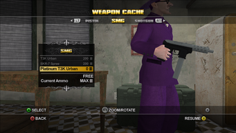 Saints Row Weapon Cache - SMG - Platinum T3K Urban