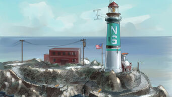 Concept Art of Prison Lighthouse in Saints Row 2