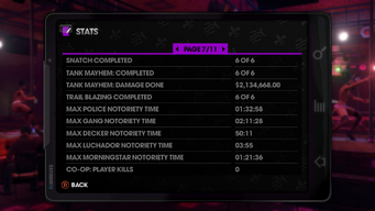 Stats page 7 of 11 in Saints Row The Third