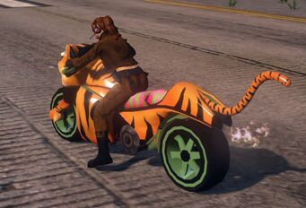 Angry Tiger - with green wheels