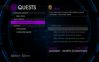 Quests Menu - A Whiter Shade of Pale
