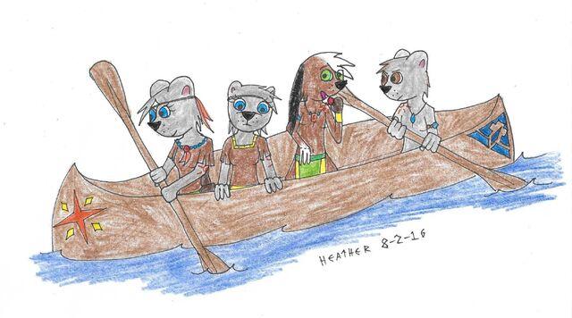 File:Four friends in a canoe.jpg