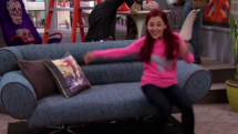 Cat Valentine on a couch