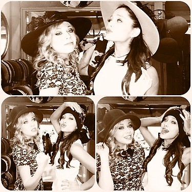 File:Ariana and Jennette hat shopping.jpg