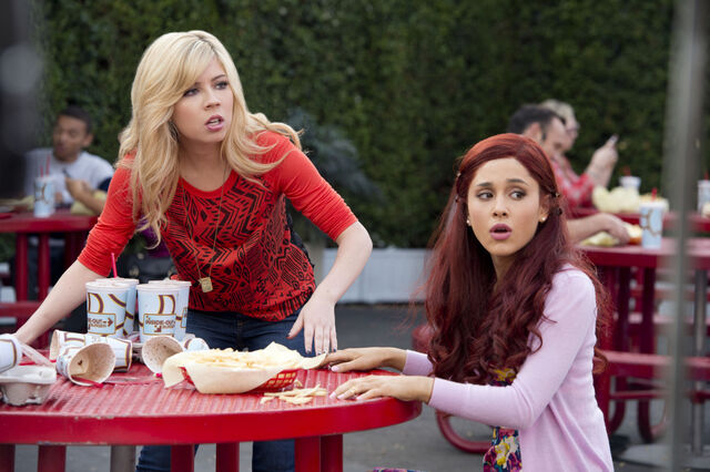File:Sam and Cat eating at a table.jpg
